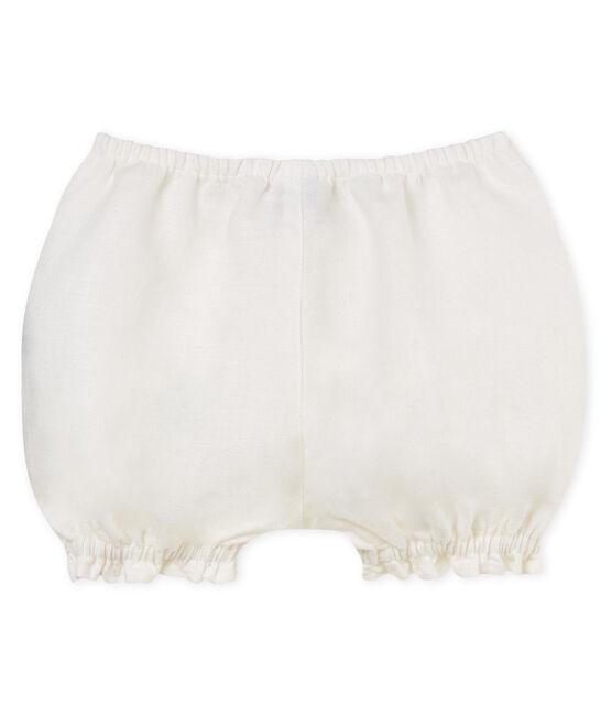 Braguitas bloomer de lino para bebé niña blanco Marshmallow