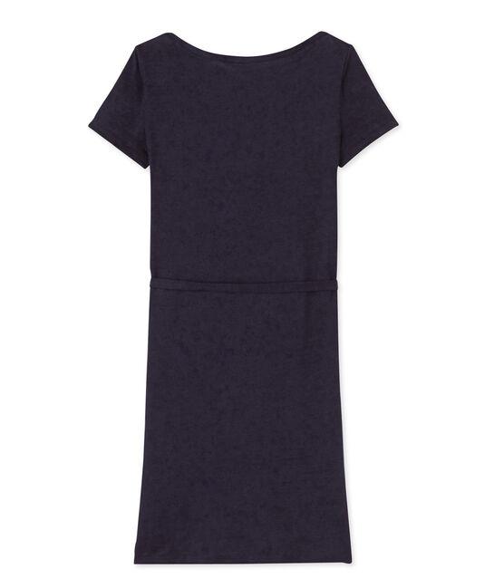 Vestido de lino para mujer azul Smoking
