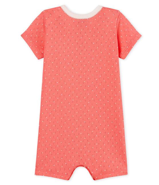 Mono corto de punto para bebé niña rosa Cupcake / blanco Marshmallow