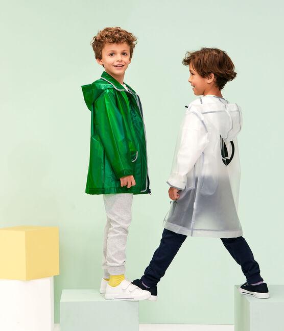 Chubasquero para niño y niña verde Prado