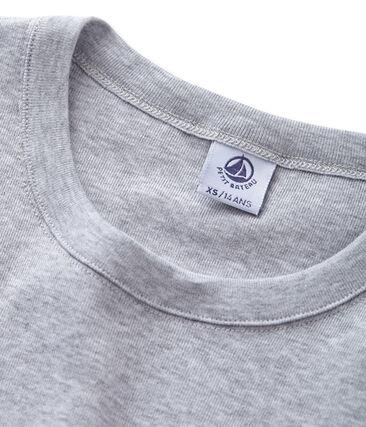 Camiseta manga corta de cuello redondo para mujer gris Poussiere Chine