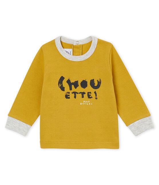 Camiseta para bebé niño amarillo Inca