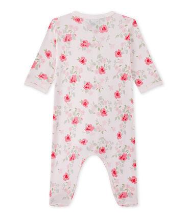 Pijama con flores estampadas para bebé niña
