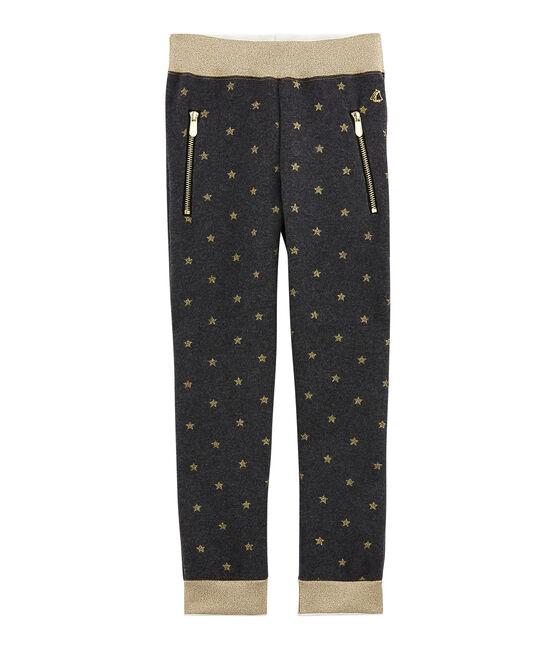 Pantalón para niña negro City / amarillo Dore