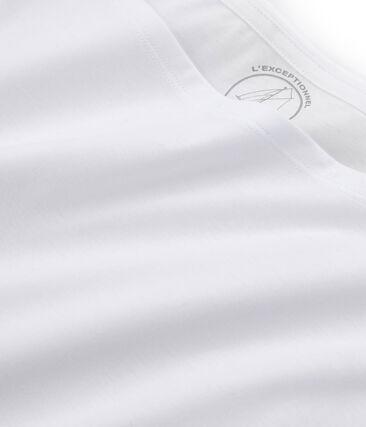 Camiseta manga corta de algodón Sea Island para mujer blanco Ecume