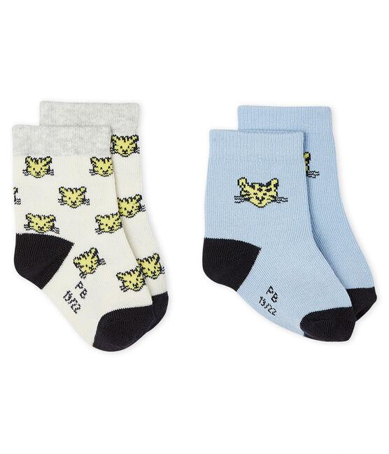 Lote de 2 pares de calcetines bebé niño lote .