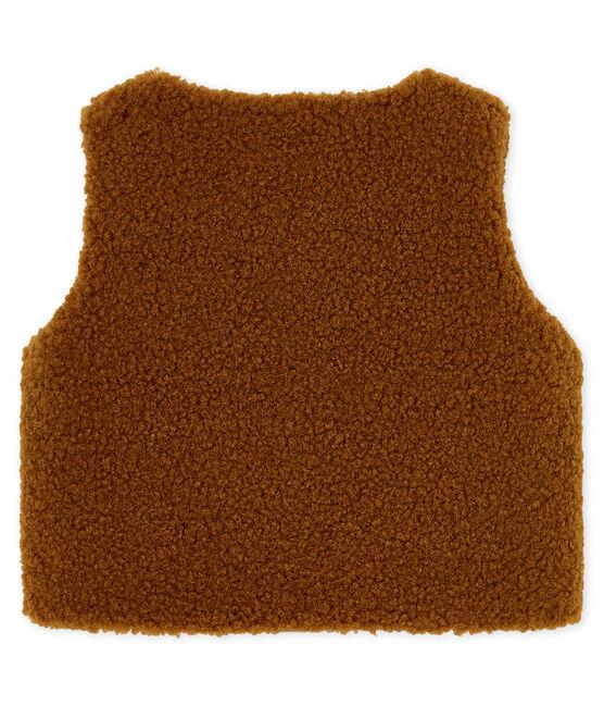 Chaleco para bebé niño marrón Cocoa
