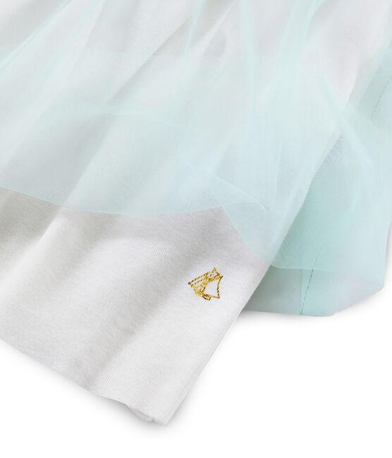 Vestido de manga corta para niña blanco Marshmallow / blanco Multico