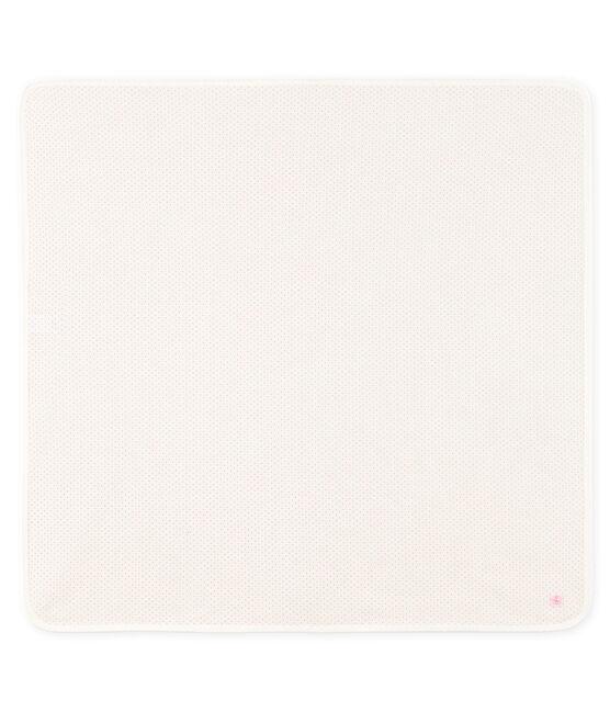 Trapo de maternidad para bebé de punto blanco Marshmallow / rosa Charme