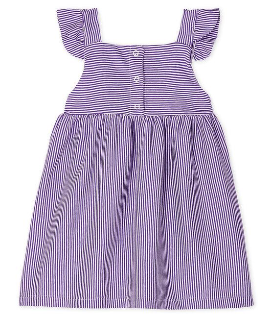 Vestido milrayas para bebé niña violeta Real / blanco Marshmallow
