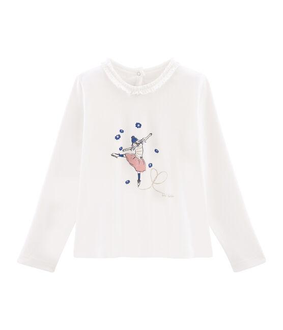 Camiseta de manga larga para niña blanco Marshmallow