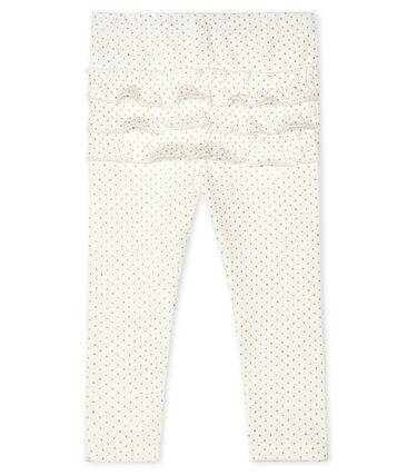 Leggings estampados para bebé niña blanco Marshmallow / amarillo Or