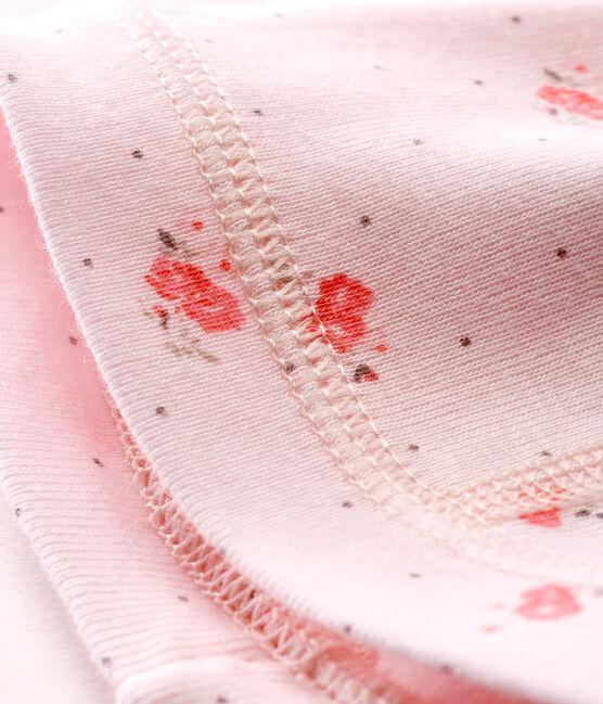 Gorro nacimiento estampado para bebé unisex rosa Vienne / blanco Multico Cn