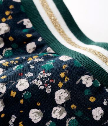 Pantalón de túbico estampado para bebé niña azul Smoking / blanco Multico