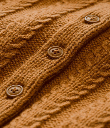 Cárdigan en tricot para bebé mixto en lana y algodón