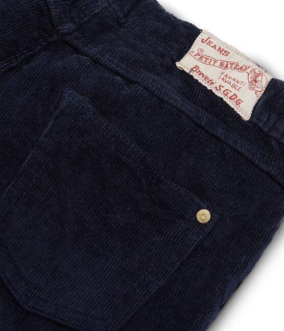 Pantalón de terciopelo slim para niña SMOKING