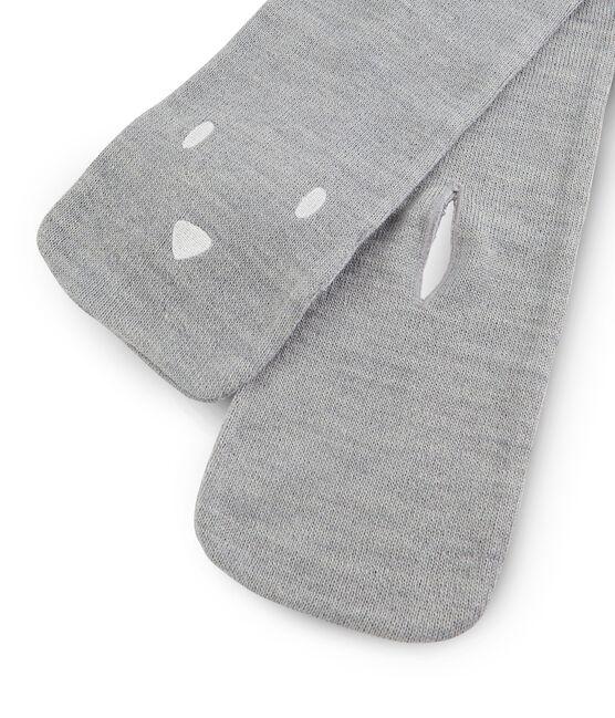Bufanda para bebé unisex gris Subway