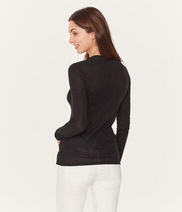 Camiseta manga larga de algodón ligero para mujer