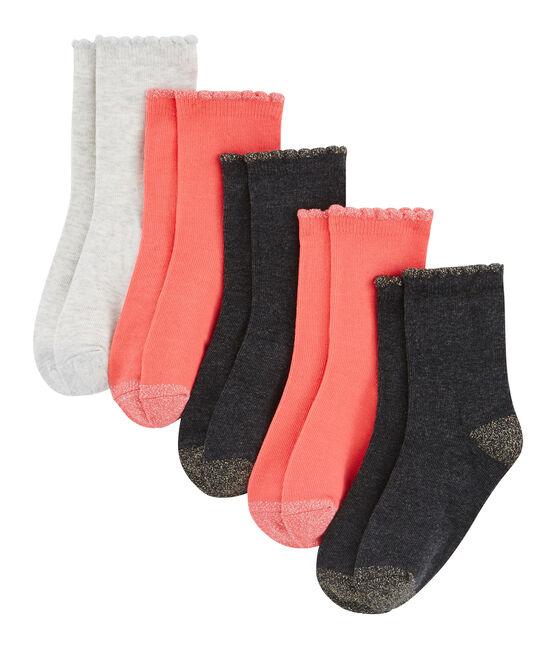 Lote de 5 pares de calcetines niña lote .
