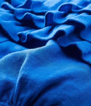 Braguitas bloomer de lino para bebé niña azul Riyadh