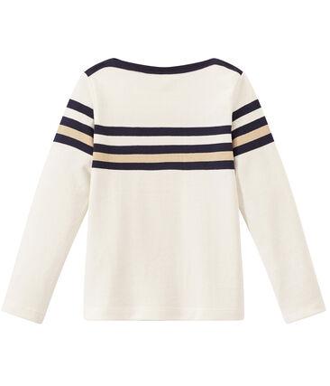 Marinera en jersey tupido para niño blanco Marshmallow / blanco Multico