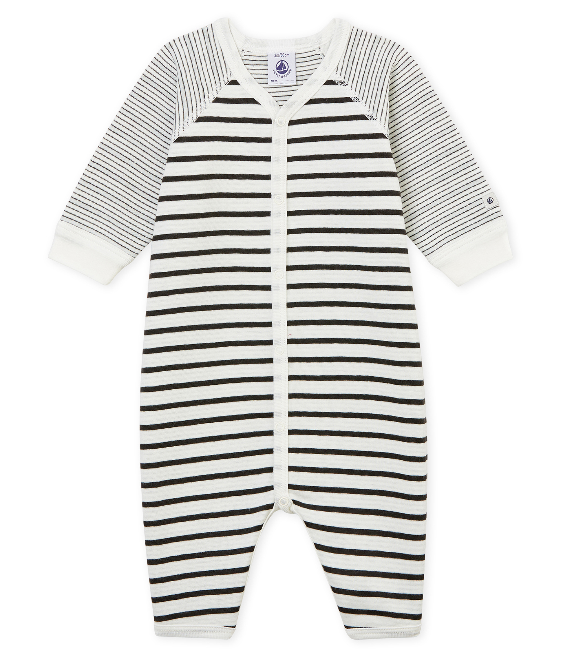 54186d458 Pijama de bebé sin pies en tejido suave para niño | Petit Bateau