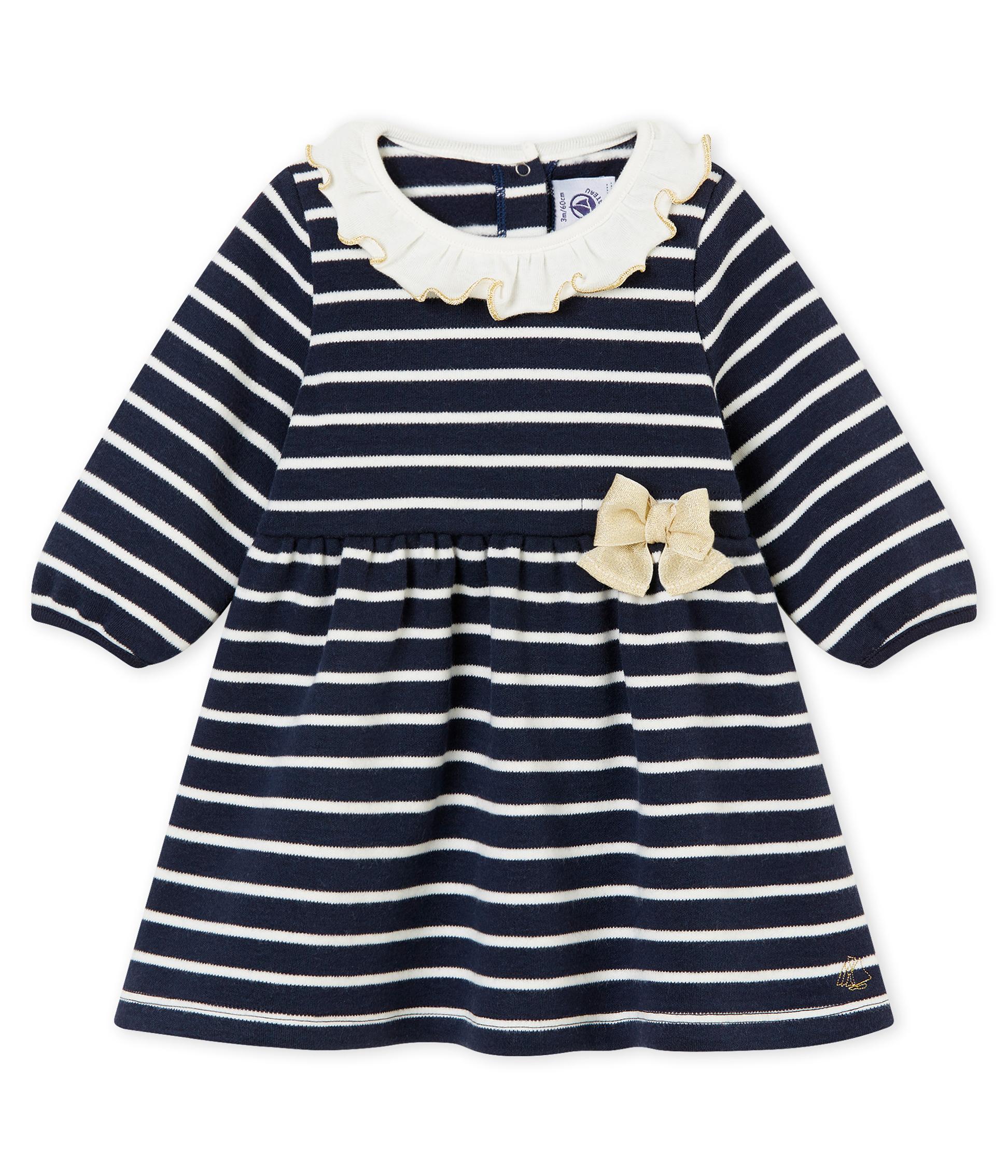 9bd00d9ca Vestido marinero para bebé niña