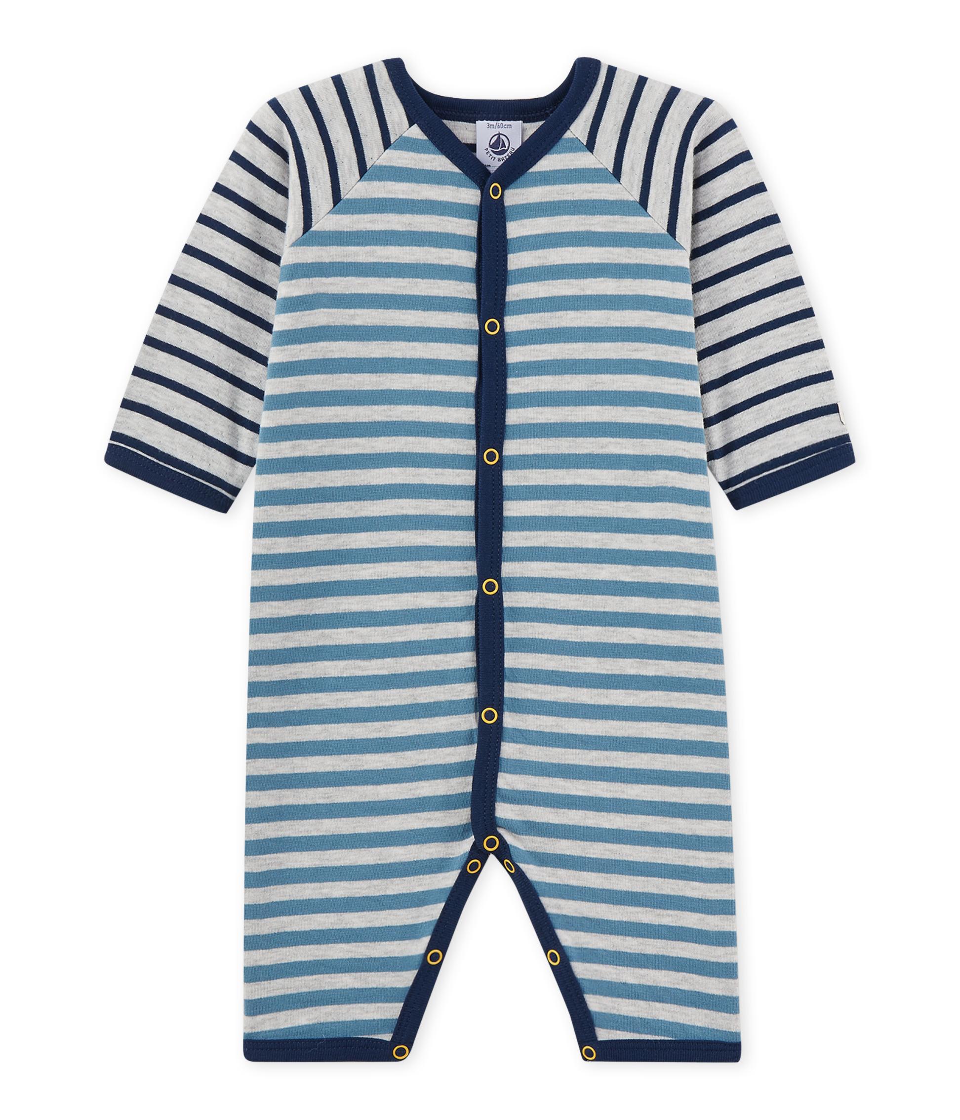 52158c1d4 Pijama de rayas sin pies para bebé niño | Petit Bateau