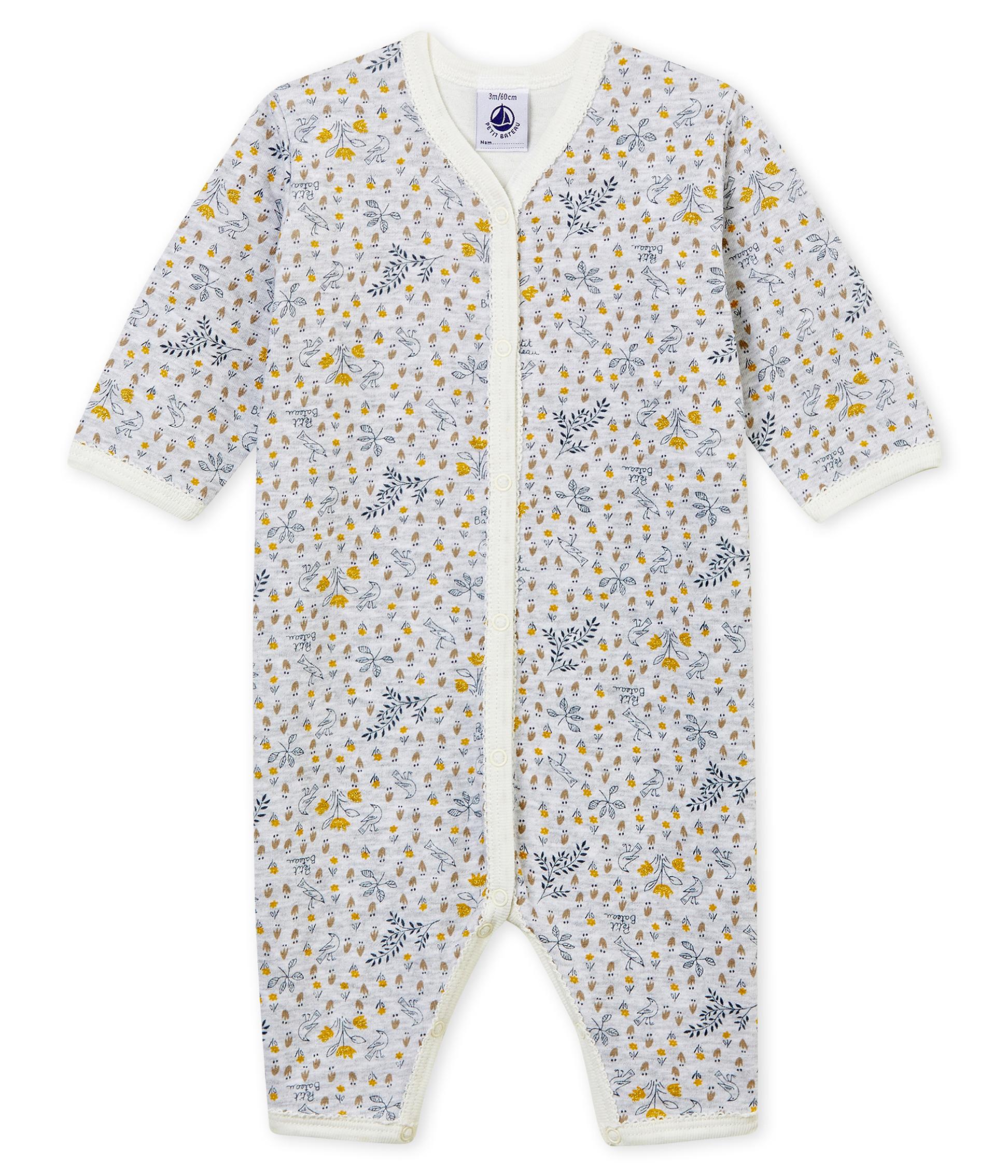 f9524cc33 Pijama de bebé sin pies en punto suave para niña | Petit Bateau