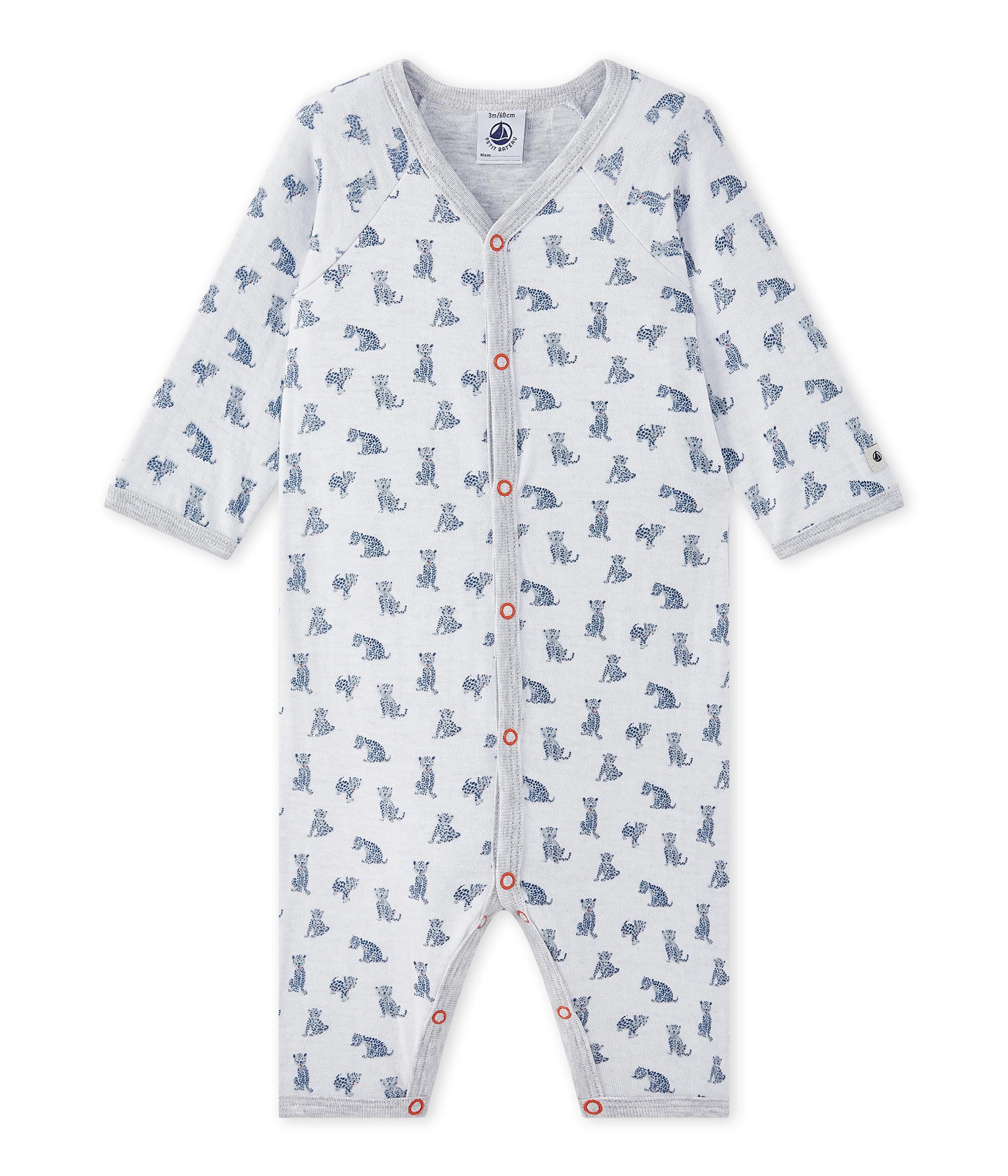 0bc9f64b2 Pijama sin pies en túbico para bebé niño | Petit Bateau