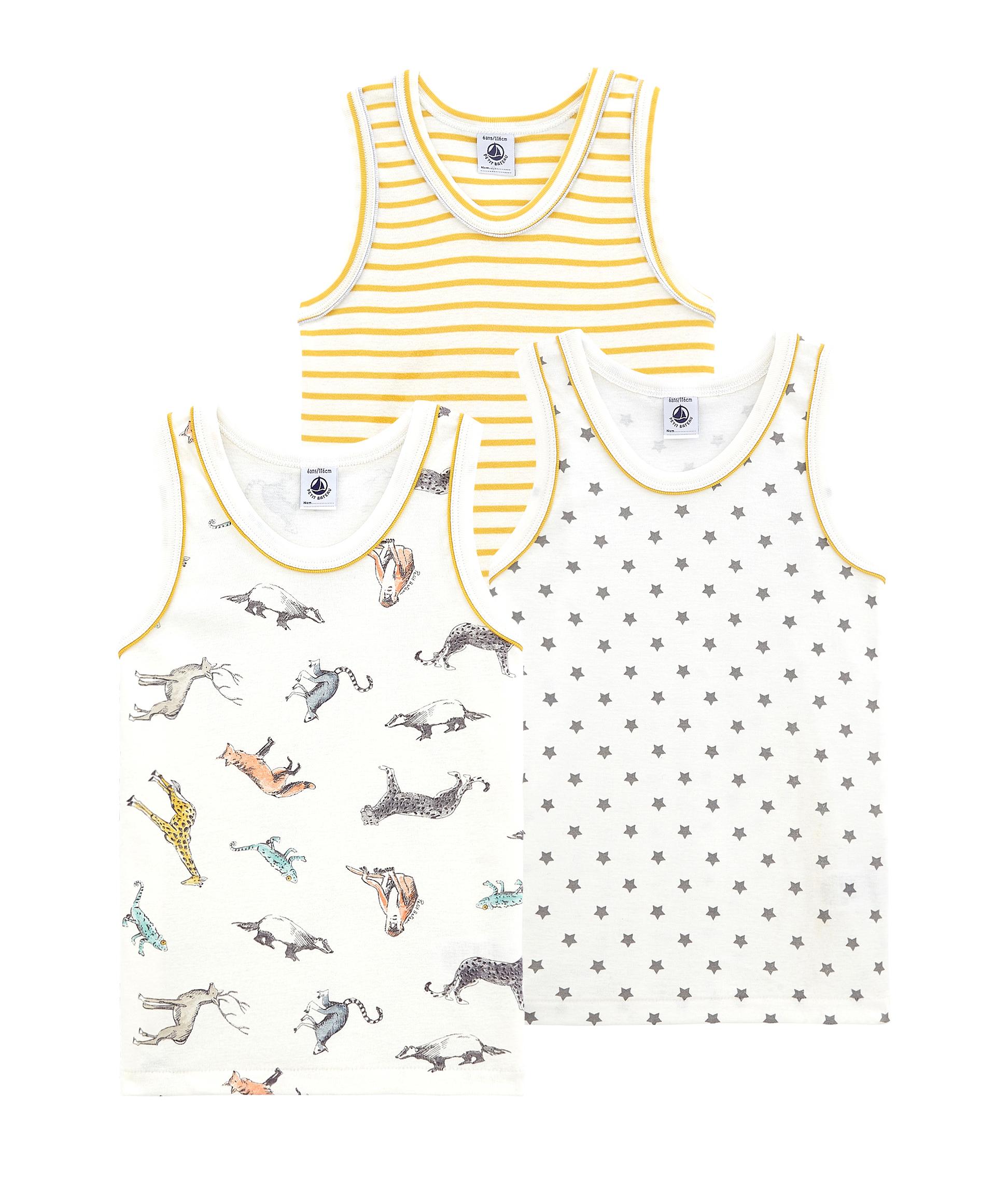para Ni/ños Pack de 2 Petit Bateau Camiseta de Tirantes